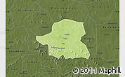 Physical Map of Kongoussi, darken