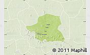 Physical Map of Kongoussi, lighten