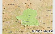 Physical Map of Kongoussi, satellite outside