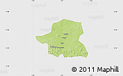 Physical Map of Kongoussi, single color outside