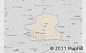 Shaded Relief Map of Kongoussi, desaturated