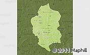 Physical Map of Bam, darken