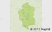 Physical Map of Bam, lighten
