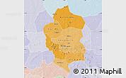 Political Shades Map of Bam, lighten