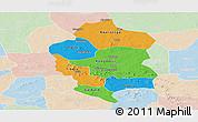 Political Panoramic Map of Bam, lighten