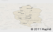 Shaded Relief Panoramic Map of Bam, lighten