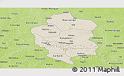 Shaded Relief Panoramic Map of Bam, physical outside