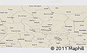 Shaded Relief Panoramic Map of Bam
