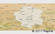 Shaded Relief Panoramic Map of Bam, satellite outside