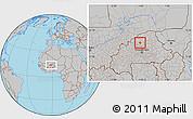 Gray Location Map of Rollo