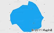 Political Simple Map of Rollo, single color outside