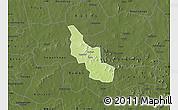 Physical Map of Tikare, darken
