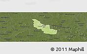 Physical Panoramic Map of Tikare, darken