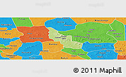 Physical Panoramic Map of Tikare, political outside