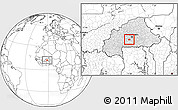 Blank Location Map of Kayao, highlighted country