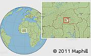 Savanna Style Location Map of Kayao, highlighted parent region