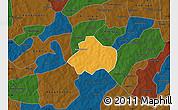 Political Map of Kayao, darken