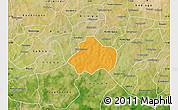 Political Map of Kayao, satellite outside
