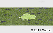 Physical Panoramic Map of Kayao, darken