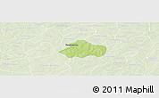 Physical Panoramic Map of Kayao, lighten