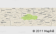 Physical Panoramic Map of Kayao, shaded relief outside