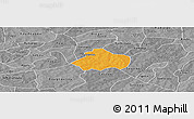 Political Panoramic Map of Kayao, desaturated