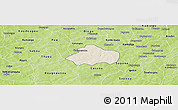 Shaded Relief Panoramic Map of Kayao, physical outside