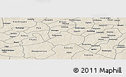 Shaded Relief Panoramic Map of Kayao