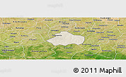 Shaded Relief Panoramic Map of Kayao, satellite outside