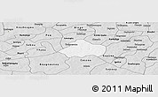 Silver Style Panoramic Map of Kayao