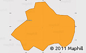 Political Simple Map of Kayao, cropped outside