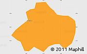 Political Simple Map of Kayao, single color outside