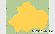 Savanna Style Simple Map of Kayao, single color outside