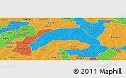 Political Panoramic Map of Kombissiri