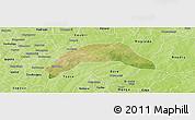Satellite Panoramic Map of Kombissiri, physical outside