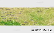Satellite Panoramic Map of Kombissiri