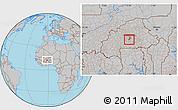 Gray Location Map of Komsilga