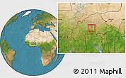 Satellite Location Map of Komsilga