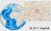 Shaded Relief Location Map of Komsilga