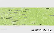 Physical Panoramic Map of Koubri