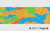 Political Panoramic Map of Koubri