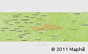 Satellite Panoramic Map of Koubri, physical outside