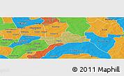 Satellite Panoramic Map of Koubri, political outside