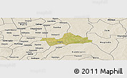 Satellite Panoramic Map of Koubri, shaded relief outside