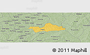 Savanna Style Panoramic Map of Koubri