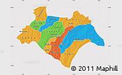 Political Map of Bazega, cropped outside