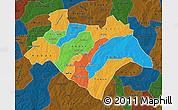 Political Map of Bazega, darken