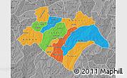 Political Map of Bazega, desaturated