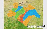 Political Map of Bazega, satellite outside