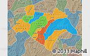 Political Map of Bazega, semi-desaturated